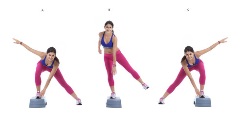 Aerobic Lateral jump on step