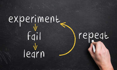 experiment, fail, learn, repeat