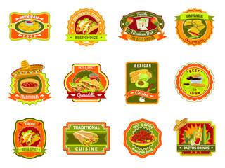 Mexican Food Emblem Set