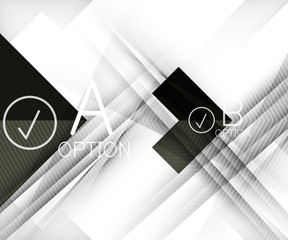 Color geometric shapes with option elements abstract background