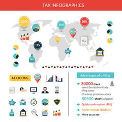 Tax Infographics Set