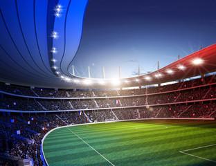 Wall Mural - Stadion farbiges Licht Frankreich 1