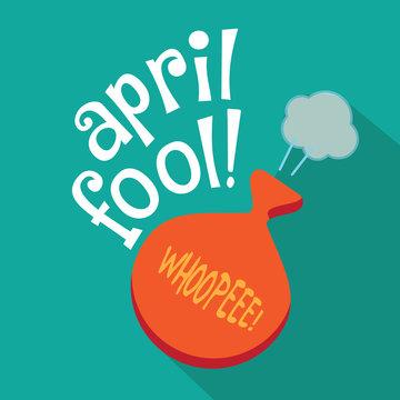 April Fools Day gag flat design. EPS 10 vector