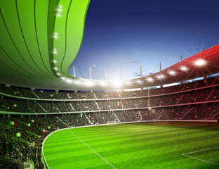 Wall Mural - Stadion farbiges Licht Italien 1