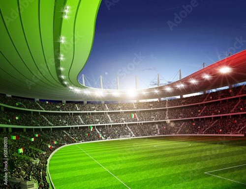 Wall mural Stadion farbiges Licht Italien 1