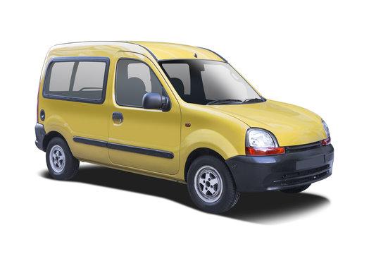 Small yellow van