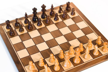 chess game made of valuable wood