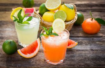 Healthy cold lemonade
