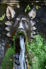 Allee der hundert Brunnen in der Villa d'Este, Tivoli, Italien
