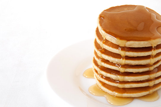 Pancakes with maple syrup. Pancake's Day