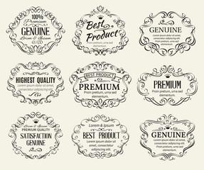 Calligraphic Design Elements Frame