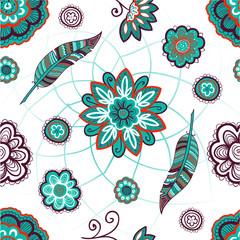 Boho seamless pattern.