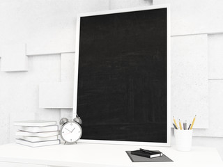 Black board on the table