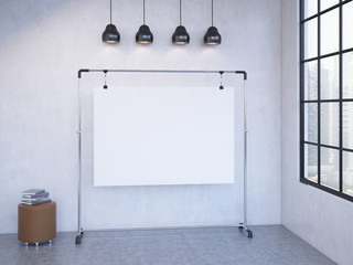 Portable board in the room