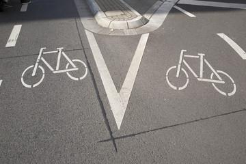 Two Bike Lane Symbol, Bonn