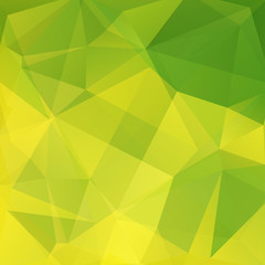 Background of geometric shapes. Green mosaic pattern. Vector EPS