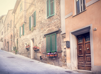 Captivating street of old Montepulciano