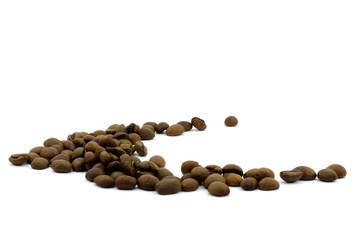 coffee beans (isolated object on white background)