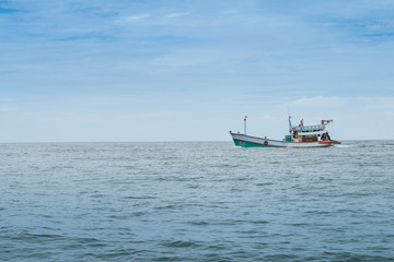 Fisherman boat under hunting period in Thailand sea