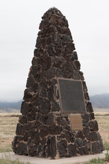 The Basalt Obelisk Marking Ground Zero of the First Atomic Test at the Trinity Site