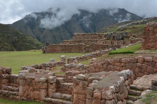 Old ruins in Chinchero, Sacred Valley Peru.