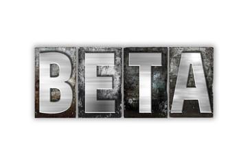 Beta Concept Isolated Metal Letterpress Type