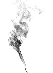 Abstract dark smoke on a light background