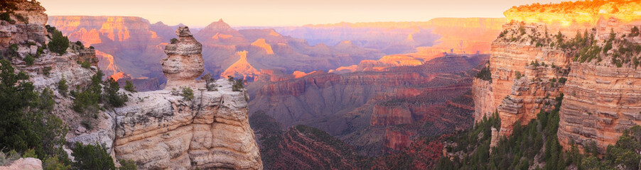 Canvas Print - Grand Canyon Sunset Panorama