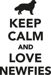 Keep calm and love newfies