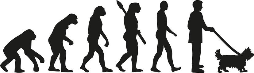 Yorkshire Terrier dog owner evolution