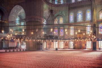 Blue Mosque and lights