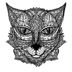 Zentangle stylized cat