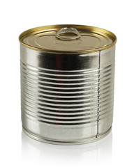 tin can  on a white background.