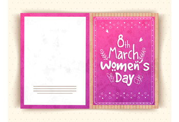 Greeting card for Women's Day celebration.