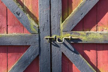 Wall Mural - Locked doors of the barn