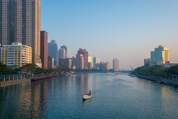 scene of Love River by the sunset in Kaohsiung