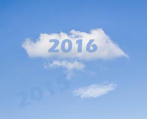 year 2016 white cloud