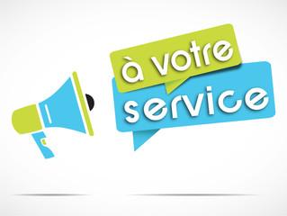 mégaphone : à votre service