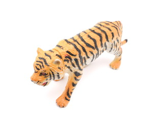toy tiger on a white background