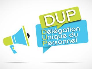 mégaphone : DUP