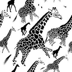 seamless pattern background giraffe skins