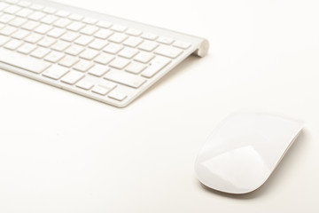 Mouse and Keyboard on white background