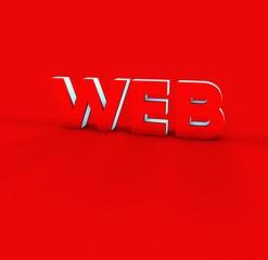 Web Kırmızı Yazı, , 3D Tipografi