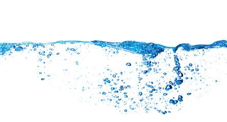 Water splash on the white