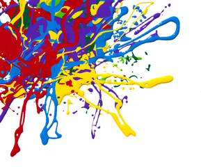 colored paint
