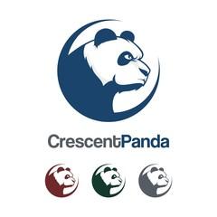 Panda Logo - Panda, Crescent, Cool, Design Logo Vector