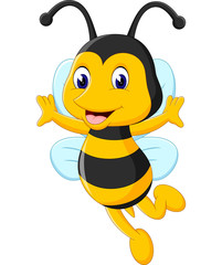 illustration of Cute bee cartoon