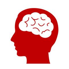 Human brain head icon