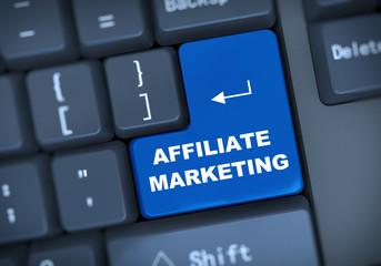3d affiliate marketing keyboard concept