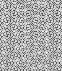 Modern stylish texture. Repeating geometric rounded circle tiles